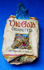 Vintage 1950's Old Gold Empty Sad & Tattered Cigarette Package