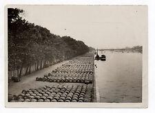 PHOTO ANCIENNE PARIS Agence Keystone Quais de Bercy Barriques Vin 1930 De Presse