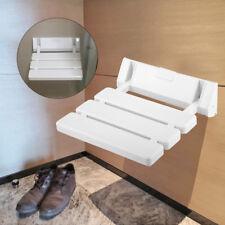 Duschklappsitz Duschsitz Dusch Klappsitz Badehilfe Wandmontage Bis 130kg Weiß DE