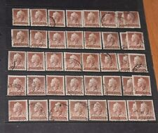 AUSTRALIA BULK LOT  1955  1/7 BROWN QUEEN ELIZABETH X 40 VERY  F/U