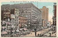 1924 Post Card MAIN STREET from SHELTON SQ BUFFALO New York Posted