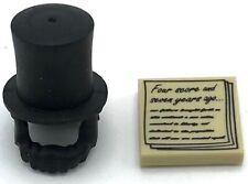Lego New Abraham Lincoln Black Minifigure Hat Top Hat Beard Gettysburg Address