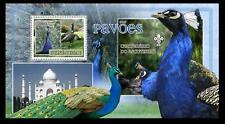 Guinea Bi. MNH SS, Birds, Peacocks, Scout logo, Taj Mahal, Seven Wonders   -N68