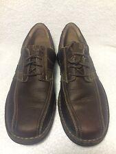 Men's Clark's Espace Brown Leather Lace Up Casual Shoes US 8 1/2 86235