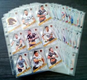 2018 NRL TRADERS COMPLETE 160 PARALLELS TRAD/CARDS WITH FOLDER/SLEEVES/CHECKLIST