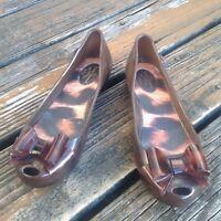 Vivienne Westwood Melissa Bow Jelly Peep Toe Flats 8 39 Brown Leopaed Anglomania