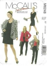McCalls Sewing Pattern 6248, Jacket, Top, Dress and Trousers, Sizes 16-22, NEW