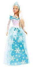 Eisprinzessin Steffi Love Puppe Barbie Spielzeug Prinzessin Mädchen Kleid Blau