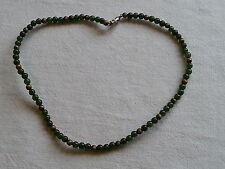 Victorian Antique Carved green jade  choker necklace c1900