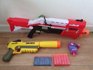 Nerf gun Fortnite bundle TS mega shotgun micro shots sp-l pistol bullets 31.99p