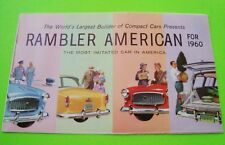 1960 RAMBLER AMERICAN DLX COLOR FOLDER BROCHURE Gorgeous Artwork Nr-MINT