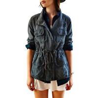 LACAUSA UO Surplus Jacket Tencel Drawstring Waist Size L Women's