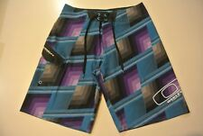 MENS OAKLEY O STRETCH BOARDSHORTS SIZE 30 BLUE/PURPLE/GREY SURF/SWIM  EX-COND