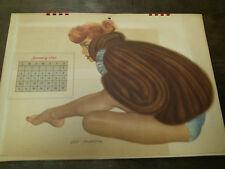 Esquire Girls Calendar 1949 Complete Full Year Al Moore Airbrush art erotica