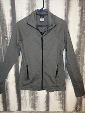 New listing Nike Dri-Fit Women's Full Zip Activewear Jacket Long sleeve Large Gray Thumb