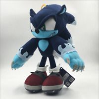 """Sonic the Hedgehog Plush Dark Sonic Soft Toy Doll Teddy Stuffed Animal 12"""" BIG"""