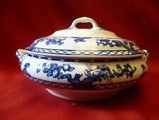 Losol Ware Keeling & Co Ltd Blue & White Round Lidded Tureen.