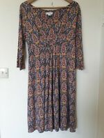 Monsoon Retro Vintage Print Tunic Dress Size 14