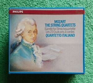 Quartetto Italiano - Mozart The String Quartets - 8CD Philips W. Germany