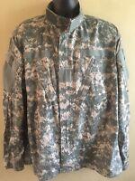 Army Combat Uniform Coat Jacket Men's Size Large L Digital Camo Print