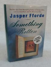 SIGNED Jasper Fforde SOMETHING ROTTEN 2004 Viking, NY 1stEd HC/DJ