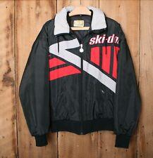 Vintage SKI-DOO Bombardier Black, Red & Gray Colorblock Snowmobile Jacket Sz. L