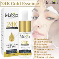 15ml Mabox 24K Gold Essence Serum Whitening Moisturizing Anti-Aging Skin Care