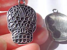 5 Grand Crâne Pendentifs Charms Tibetan Silver Antique trouver Wholesale UK R70