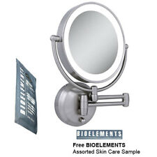 Zadro LEDW410 LED Lighted Wall Mounted Makeup Mirror w/ Free Bioelements Sample