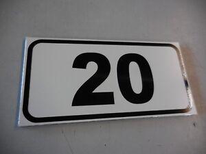 Stellplatz- Parkplatzschilder mit Nummer oder Text Größe 160 x 80 mm