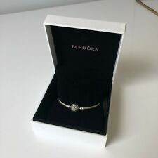 Zirconia PANDORA Heart of Winter Bangle Bracelet 18cm Limited Edition