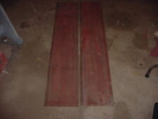 2 VINTAGE BARN BOARDS LUMBER 90+ YEAR OLD WOOD CHARACTER 60 X 11 1/2 LOT 5 RED