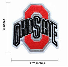 """Ohio State Buckeyes Size 2.75""""  Embroidered Iron On Patch."""