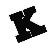 XL Extra Large & Cool Chenille Letter K Shirt Patch Badge 16cm Applique