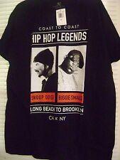 Biggie Smalls & Snoop Long Beach to Brooklyn Tee XL NWT
