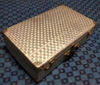 ancienne valise rétro vintage Alluminium H 20 L 65 l 38,5 cm #103