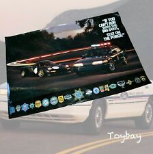 Vintage 94 Ford Crown Vic Police Interceptor RARE Big Dogs Poster ~ State Police