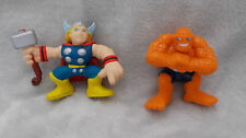 "Marvel Super Hero Squad - The Thing & Thor Figures - 2.5"" Approx"