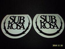 2 Authentic SUBROSA BMX Nero Logo Adesivi/Decalcomanie #36 aufkleber