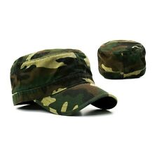Forest Camo Army GI Military Flex Flat Cotton Cadet Fit Fitted Patrol Cap Hat