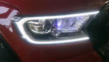 Fitt Matte Black LED Head light lamp Front Cover Trim FORD RANGER T6 Px2 2015-17