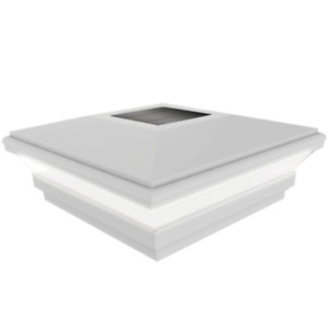 Veranda Beveled Post Cap 5 in. x 5 in. Water Resistant Solar Powered Vinyl
