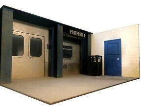 """Subway Station 6""""/7"""" Action Figure Diorama Kit Background Scenery 1/12 Scale"""