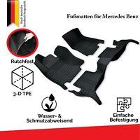 Mercedes Allwetter TPE & Gummi Fußmatten Set 3D KFZ Automatten 100% Passgenau