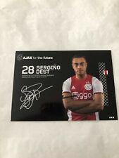 Spelerskaart Topspieler Handsigniert Ajax 19-20 Sergino Dest