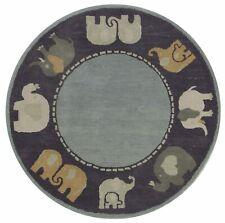 Elephanta Charcoal Color Modern Style Hand Tufted Woolen Area Rug