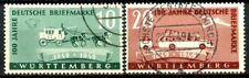 Germany Wurttemberg 1949 Stamp Centenary Set 2 Scott's 8N38 -8N39 Used