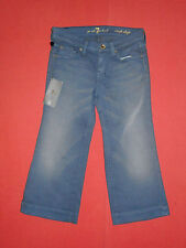BNWT 7 FOR ALL MANKIND DOJO CROP PERU - Women's Blue Crop Jeans - W 24 - B579