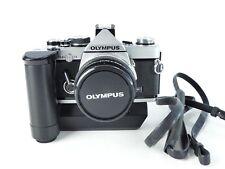 OLYMPUS OM-2N 0M2N 35MM FILM MANUAL SLR CAMERA + ZUIKO 50MM F1.8 LENS + WINDER