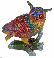 RUCINNI Owl Jeweled Trinket Box